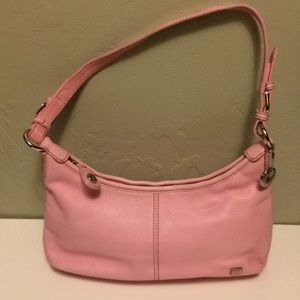Sak light pink leather bag